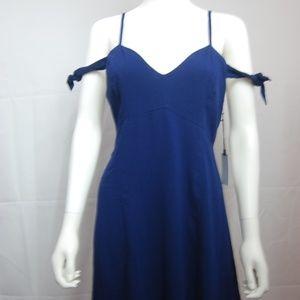 Astr Blue Cold Shoulder Dress NWT